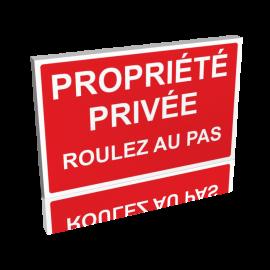 Propriété privé - Roulez au pas