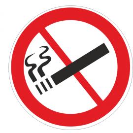 Lot de 50 adhésifs interdiction de fumer 70mm