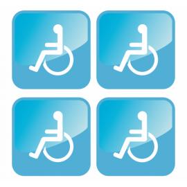 Lot de 4 adhésifs handicapés