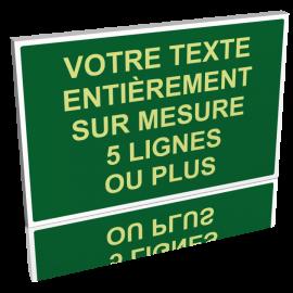 Texte personnalisé vert clair