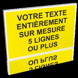 Texte personnalisé jaune