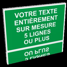 Texte personnalisé vert