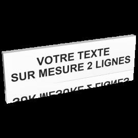 Panneau texte sur mesure