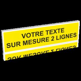Panneau jaune - texte noir