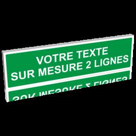 Panneau vert texte vert clair