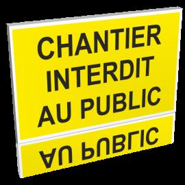 Chantier interdit au public jaune