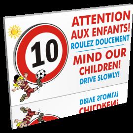 10 km heure Attention aux enfants