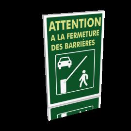 Attention à la fermeture des barrières