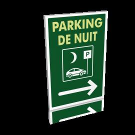 Parking de nuit droite
