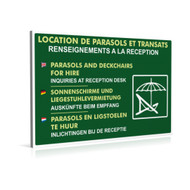 Location de parasols et transats
