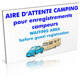 Entrée  Aire d'attente camping