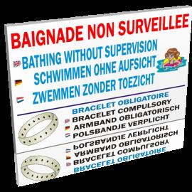 Baignade non surveillée - Bracelet obligatoire