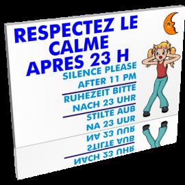 Entrée  Respectez le calme après 23h