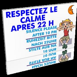 Entrée  Respectez le calme après 22h