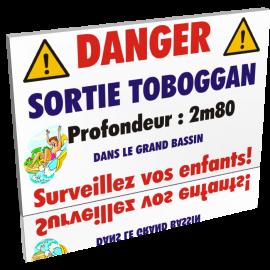 Danger sortie toboggan