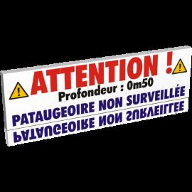 Attention pataugeoire non surveillée