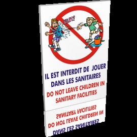 Entrée  Il est interdit de jouer dans les sanitaires