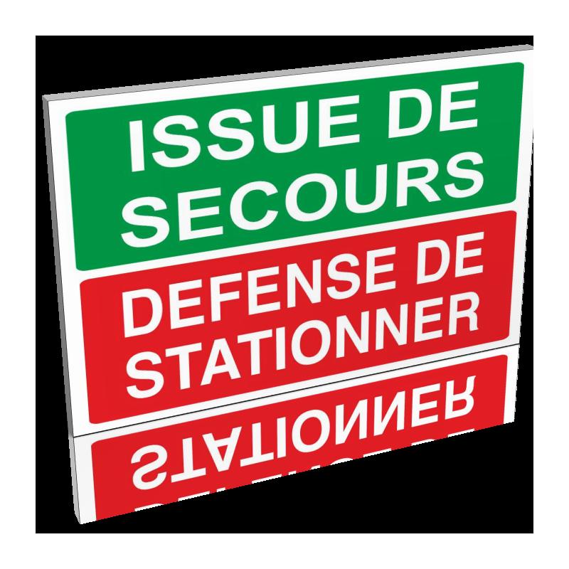 Issue de Secours - Défense de stationner