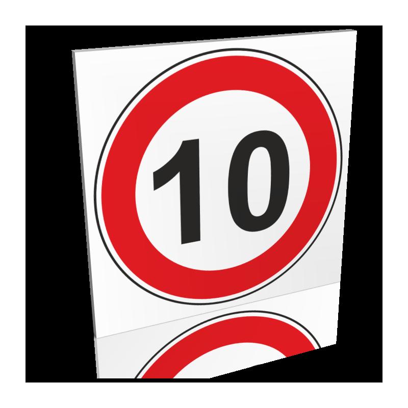 Panneau 10km/h