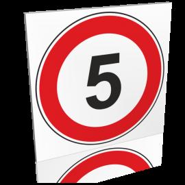 Panneau 5km/h