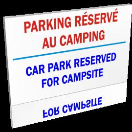 Entrée  Parking réservé au camping