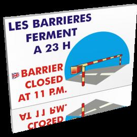 Les barrières ferment