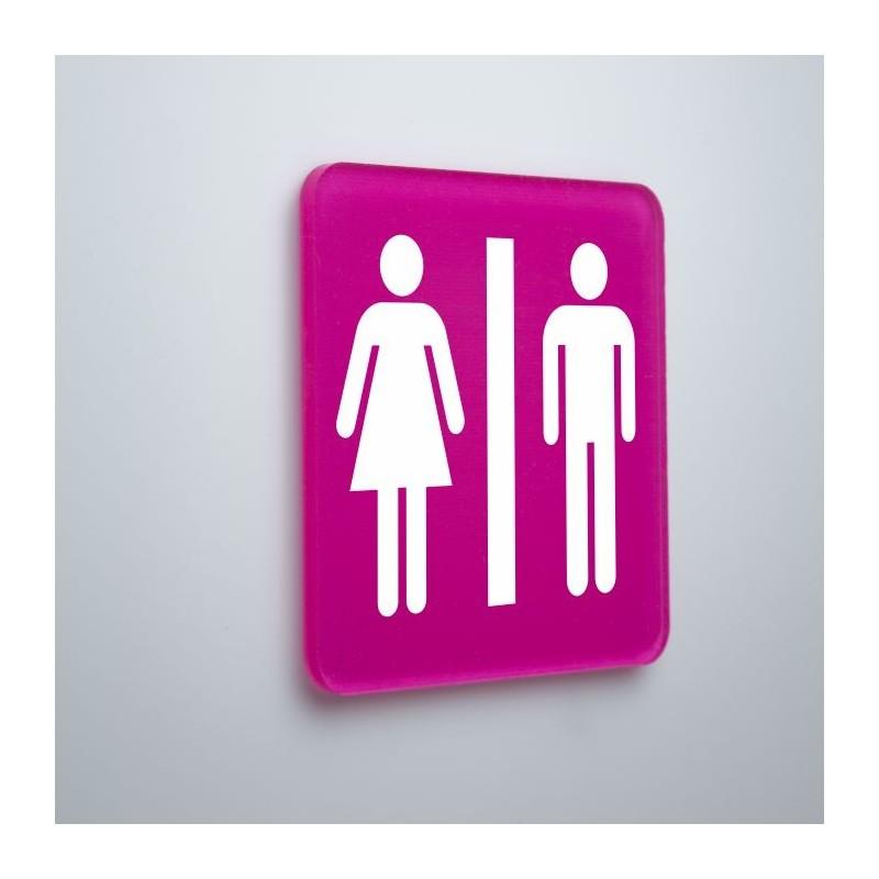 Plaque toilettes en plexiglas
