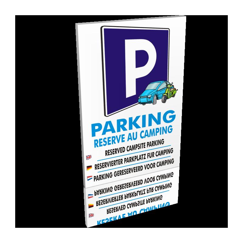 Parking réservé au camping