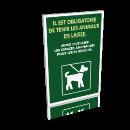 Il est obligatoire de tenir les animaux en laisse
