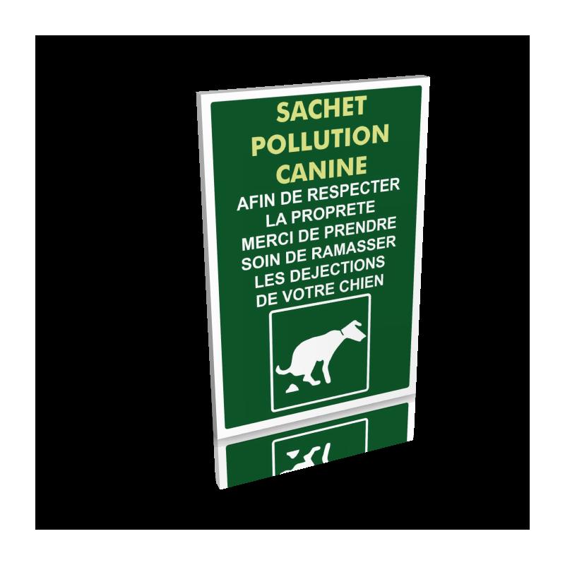 Sachet pollution canine