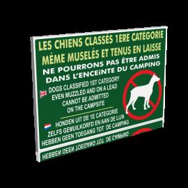 Les chiens classés de 1ere catégorie