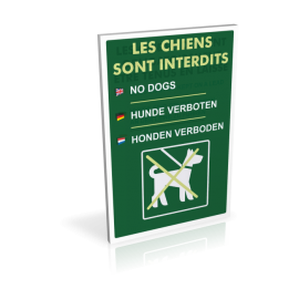 Les chiens sont interdits