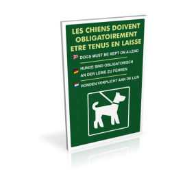 Les chiens doivent obligatoirement être tenus en laisse