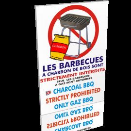 Barbecues à charbon de bois interdits