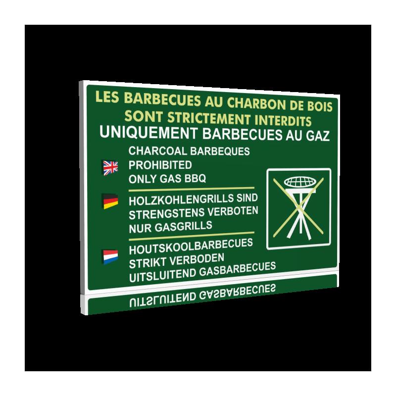 Le barbecues au charbon de bois sont strictement interdits