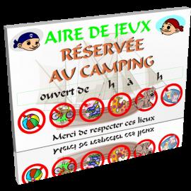 Aire de jeux réservé au camping