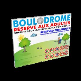 Boulodrome réservé aux adultes
