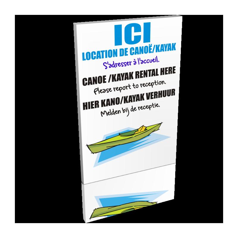 Ici location de canoë / kayak