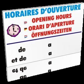 Entrée  Horaires d'ouverture