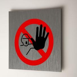 Plaque Accès interdit