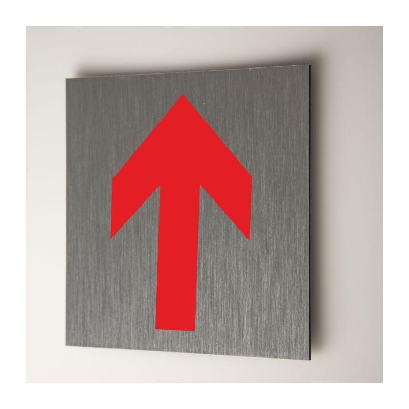 Plaque  flèche rouge
