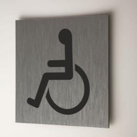 Plaque personne à mobilité réduite