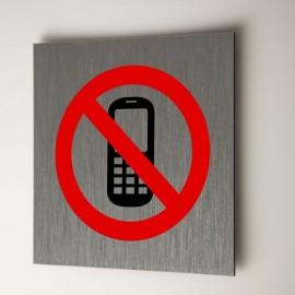 Plaque téléphone interdit