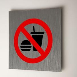 Plaque pique-nique interdit