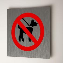 Plaque chiens interdits