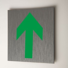 Plaque flèche verte