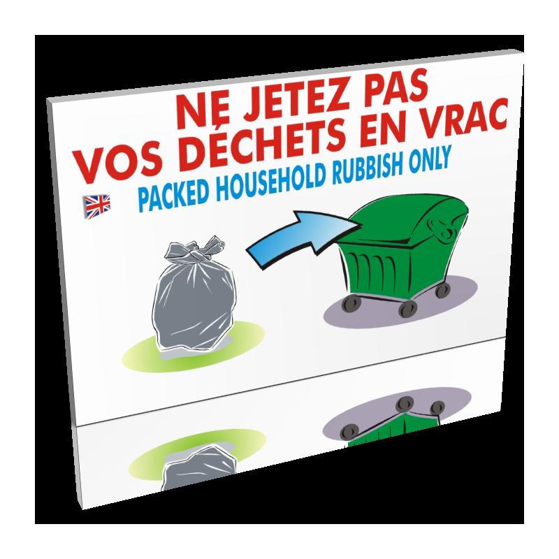 Ne jetez pas vos déchets en vrac