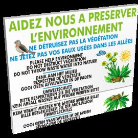 Entrée  Aidez nous à préserver l'environnement