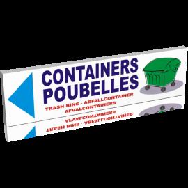 Containers poubelles gauche