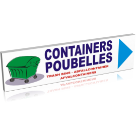 Containers poubelle droite
